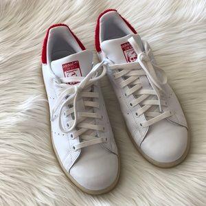 le adidas stan smith rosso sfumato scheda scarpe poshmark